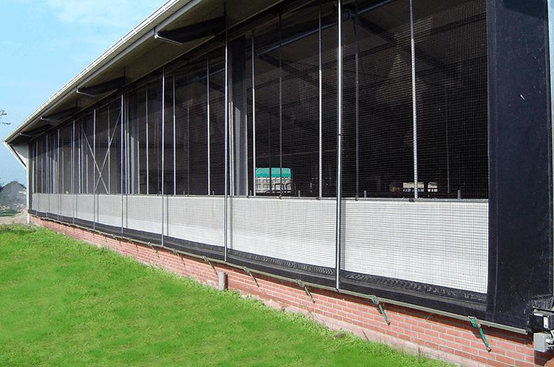 Markisrör för ventilationsväggar till lador är designade för att ge stabilitet och styvhet.