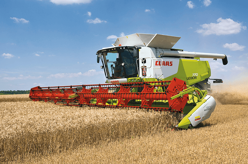 """More and more products for combine harvesters are """"made by Welser"""" including cutter bars, baling presses, cab sections and filling pipes."""
