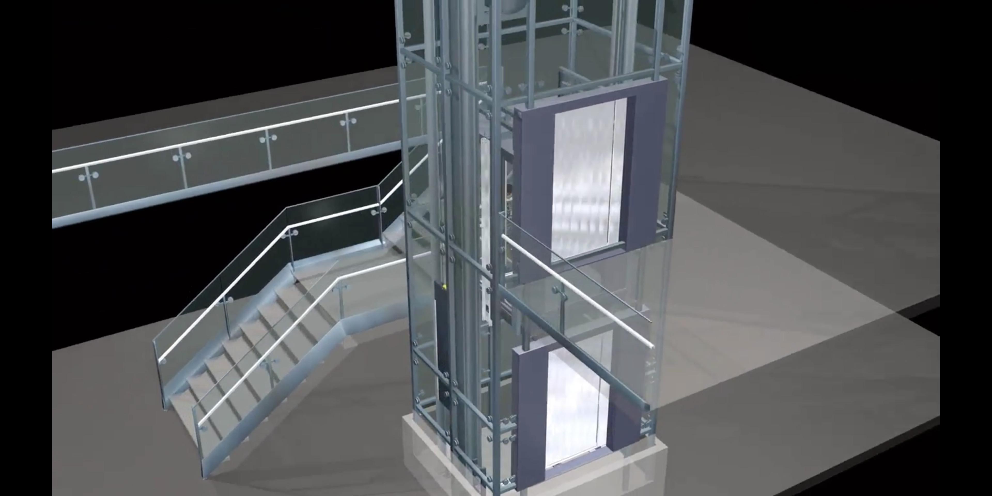 Aufzugtechnik von Welser - eine Animation