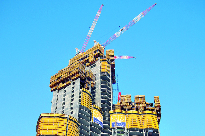 Wall and slab formwork as well as climbing and bridge formwork with Welser profiles were also used in the construction of the Burj Khalifa.